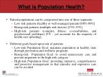 what is population health1
