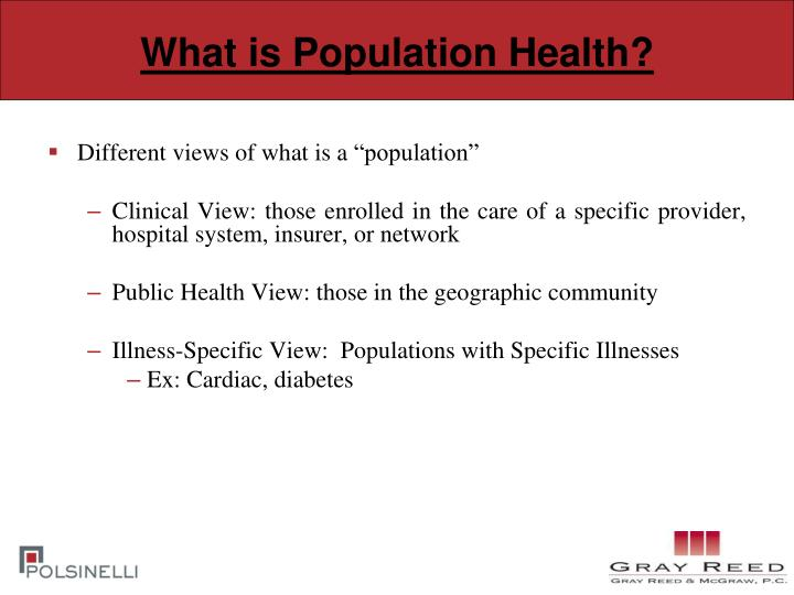 What is Population Health?