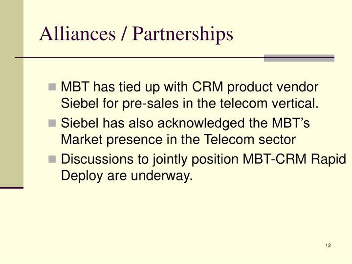 Alliances / Partnerships