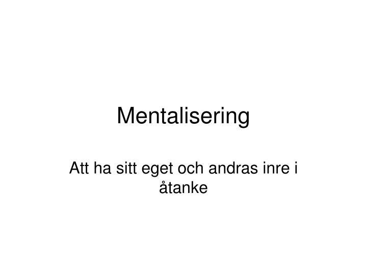 Mentalisering