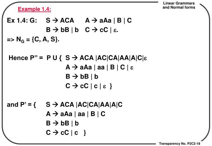 Example 1.4: