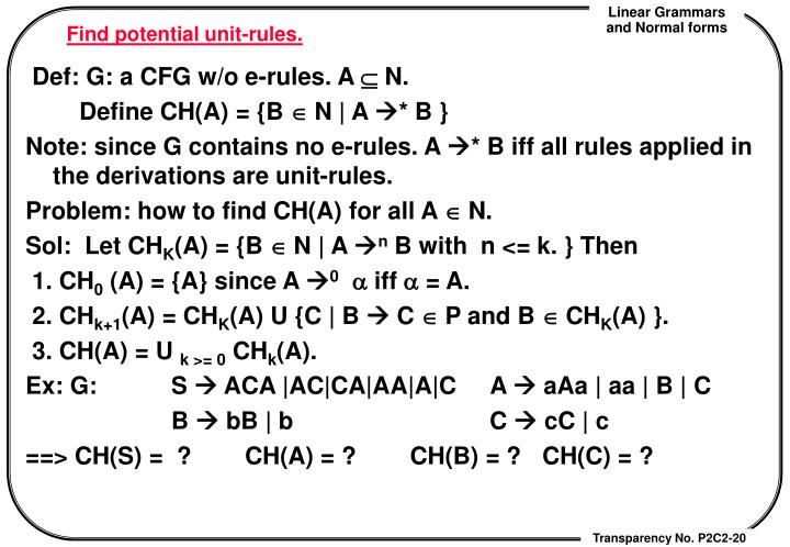 Find potential unit-rules.