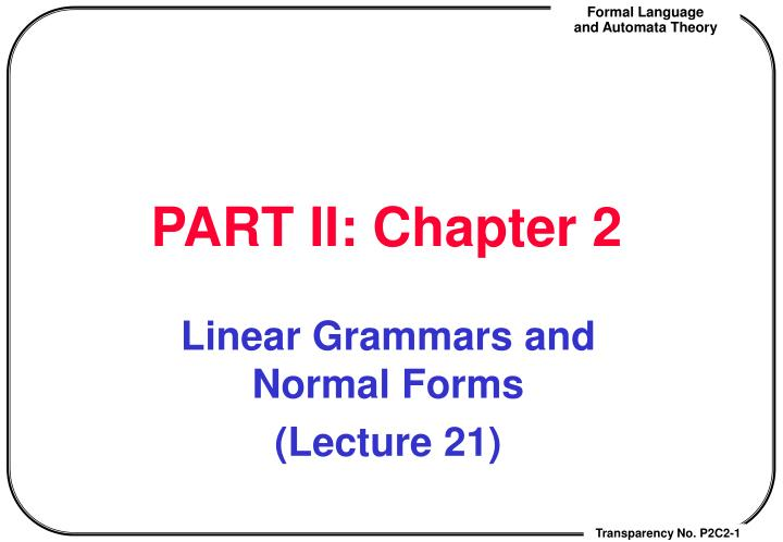 PART II: Chapter 2