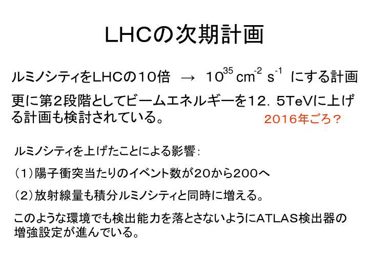 LHCの次期計画