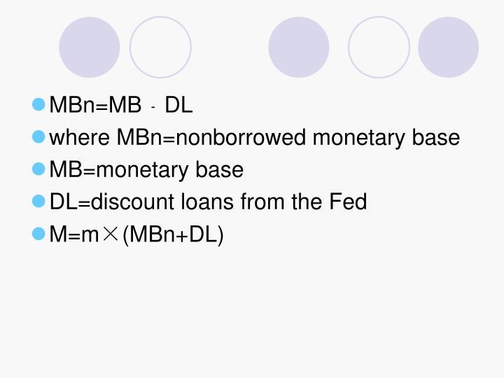 MBn=MB﹣DL