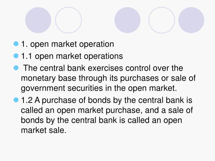 1. open market operation