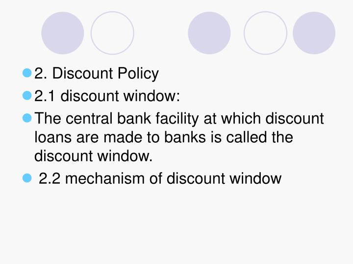 2. Discount Policy