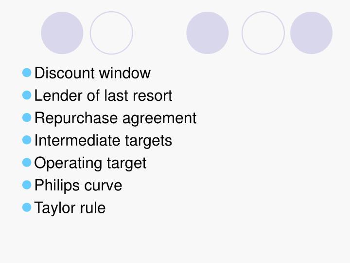 Discount window