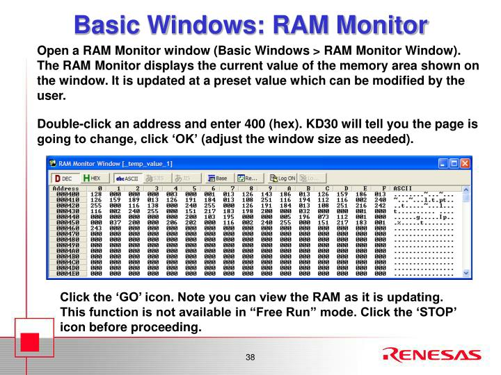 Basic Windows: RAM Monitor