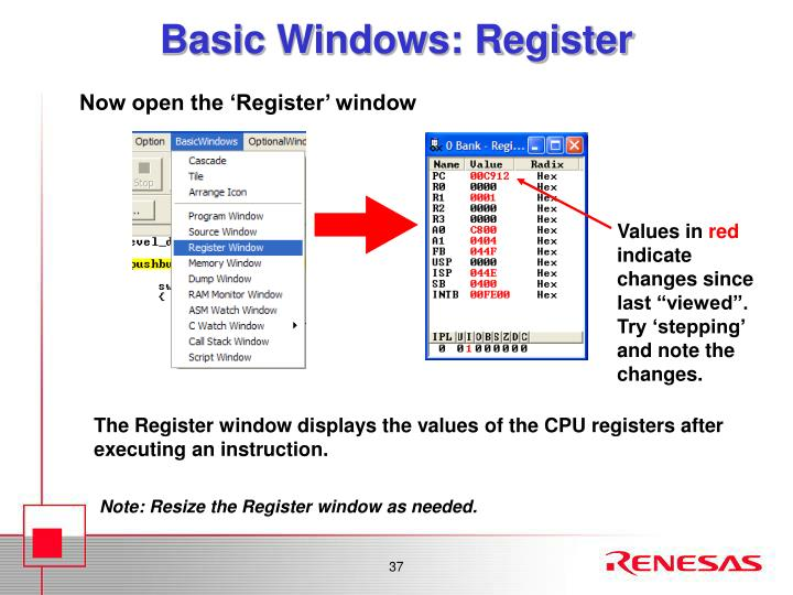 Basic Windows: Register