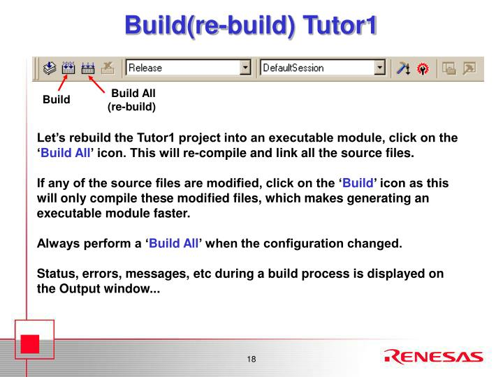 Build(re-build) Tutor1