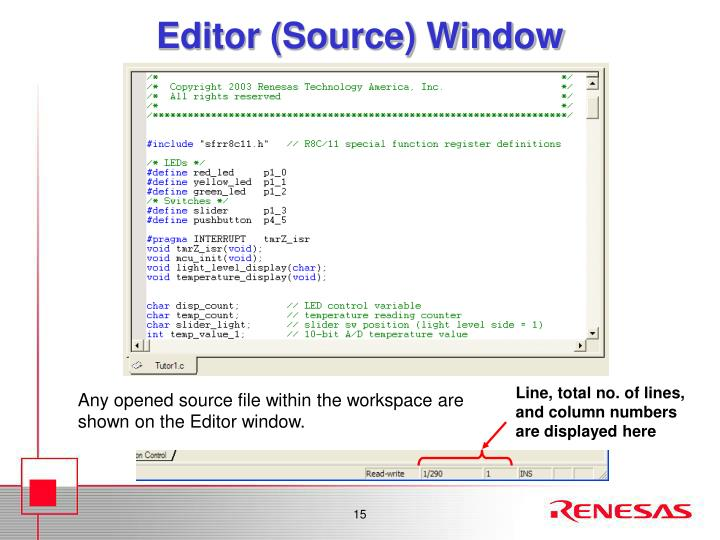 Editor (Source) Window