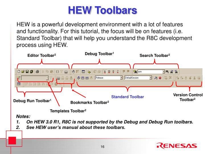 HEW Toolbars