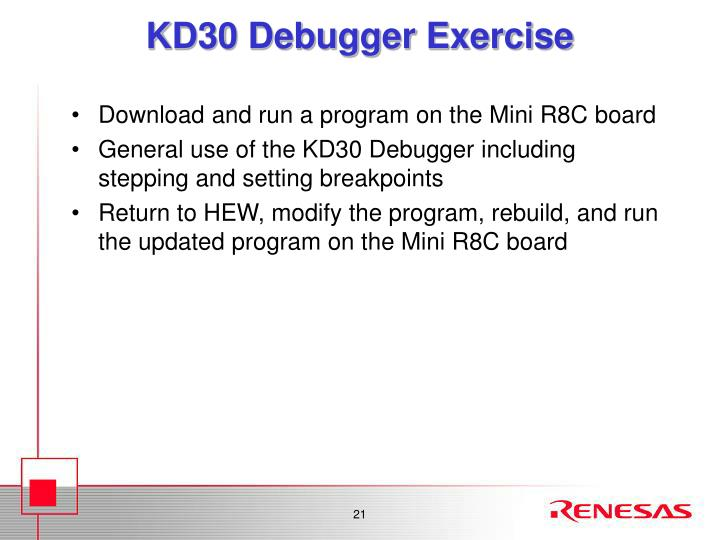 KD30 Debugger Exercise