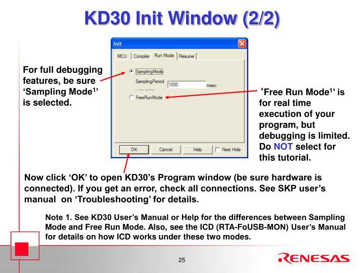KD30 Init Window (2/2)