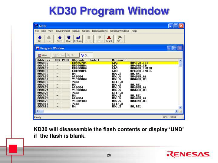 KD30 Program Window