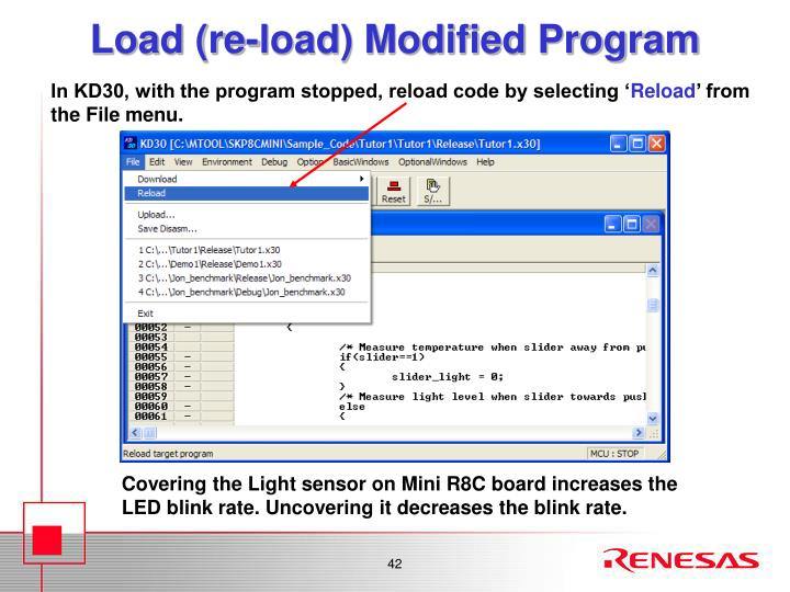 Load (re-load) Modified Program