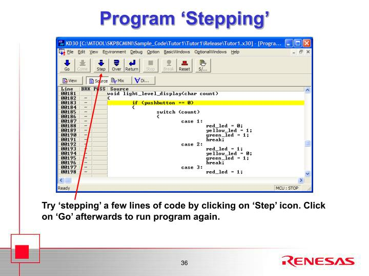 Program 'Stepping'