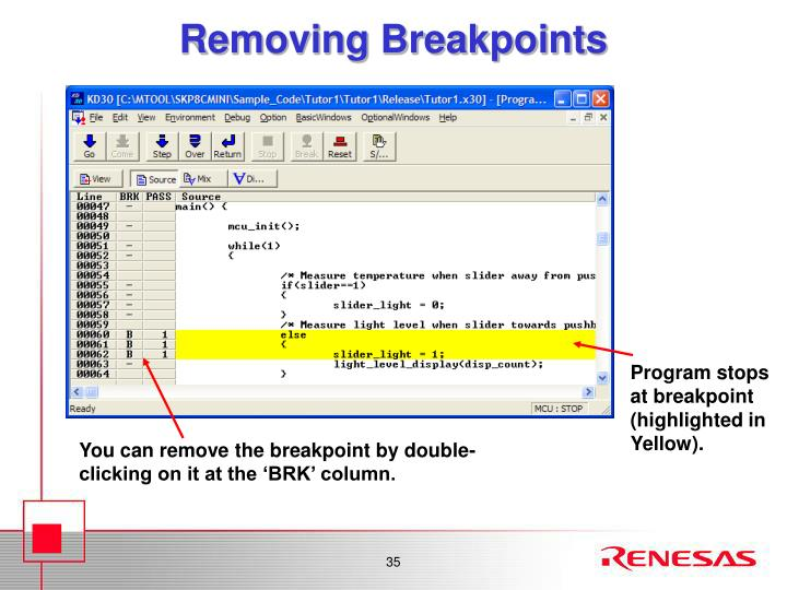 Removing Breakpoints