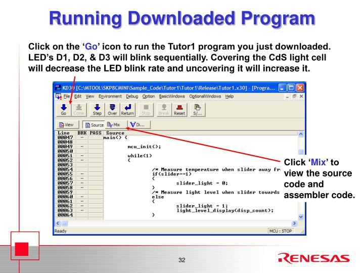 Running Downloaded Program