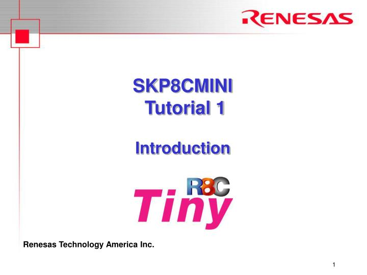 Skp8cmini tutorial 1 introduction