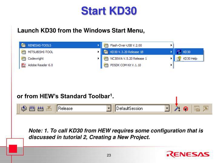Start KD30