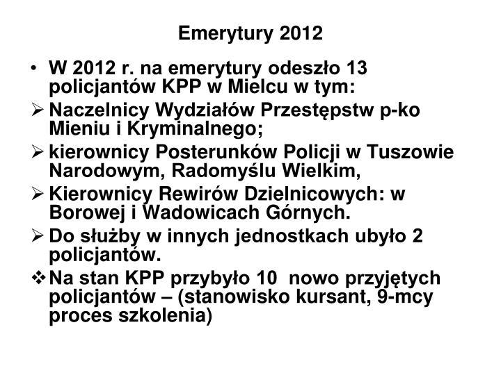 Emerytury 2012