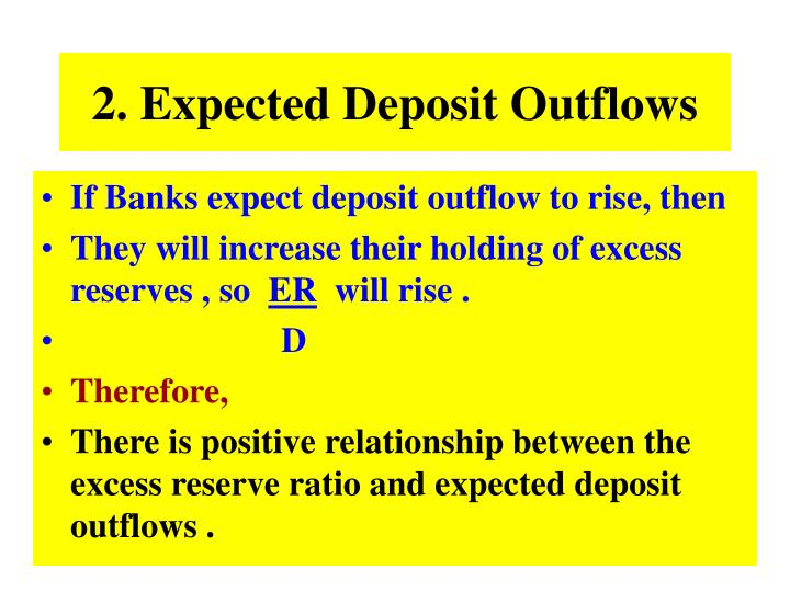 2. Expected Deposit Outflows