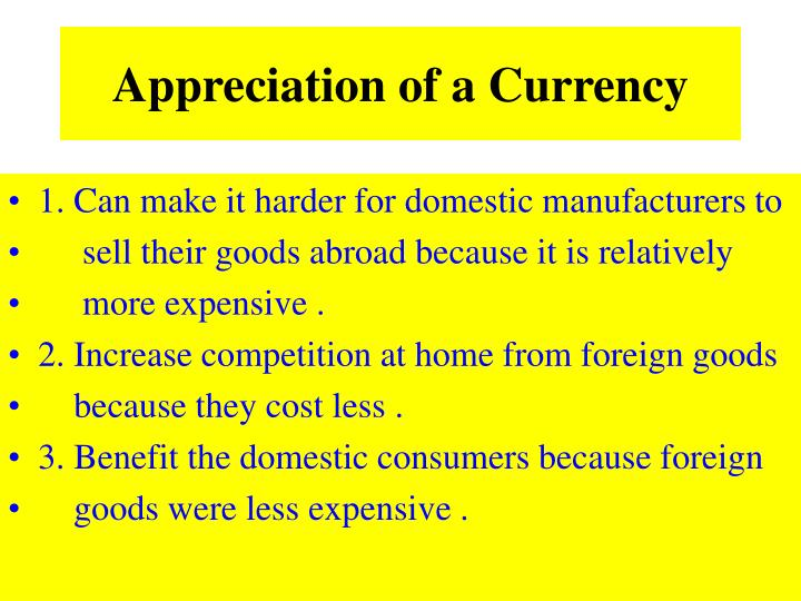 Appreciation of a Currency