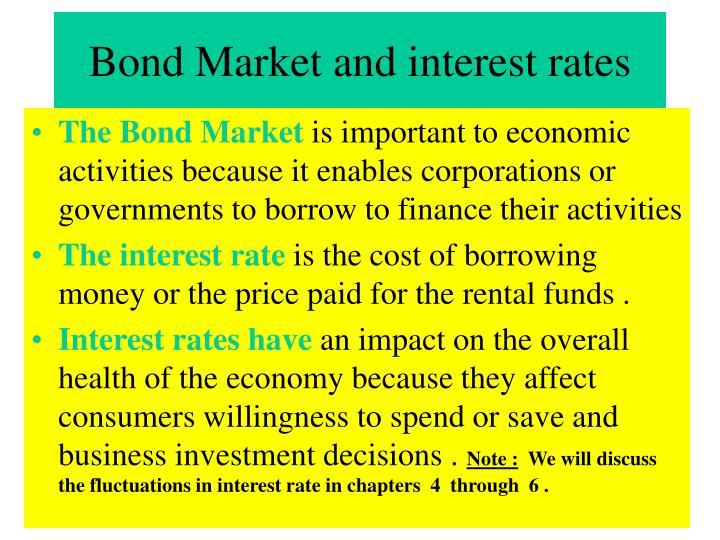 Bond Market and interest rates