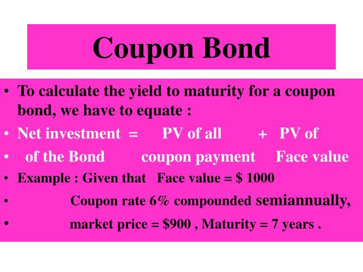 Coupon Bond