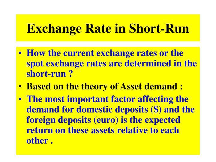 Exchange Rate in Short-Run