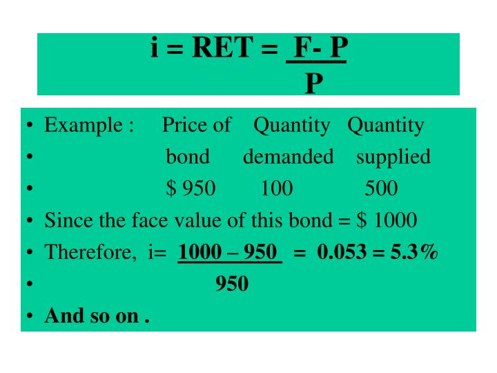 i = RET =