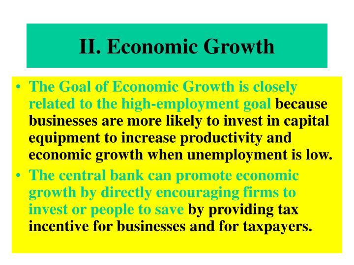 II. Economic Growth