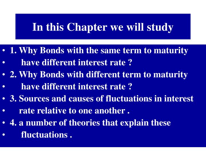 In this Chapter we will study