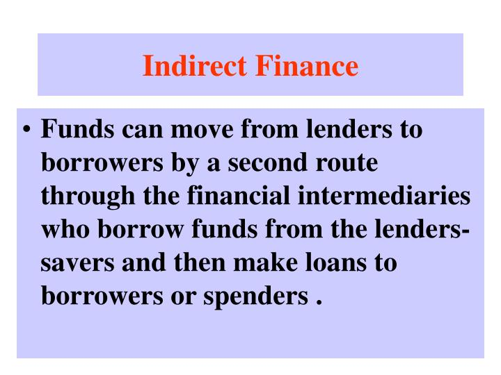 Indirect Finance