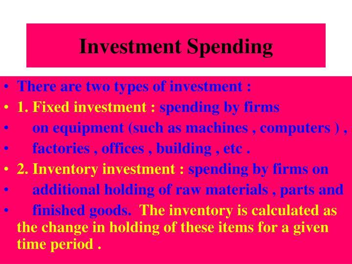 Investment Spending