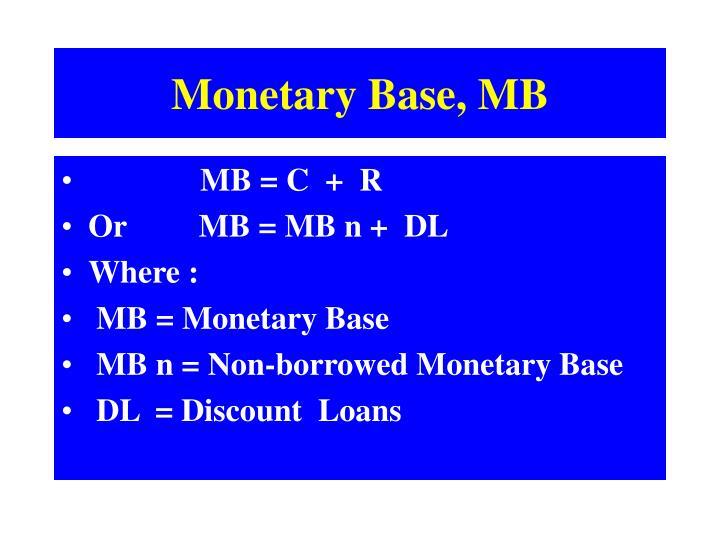 Monetary Base, MB