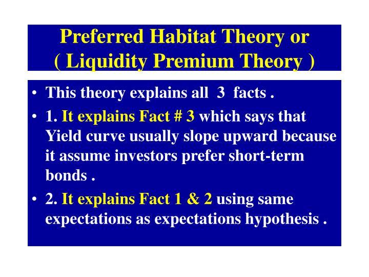 Preferred Habitat Theory or          ( Liquidity Premium Theory )