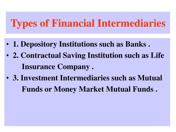 Types of Financial Intermediaries