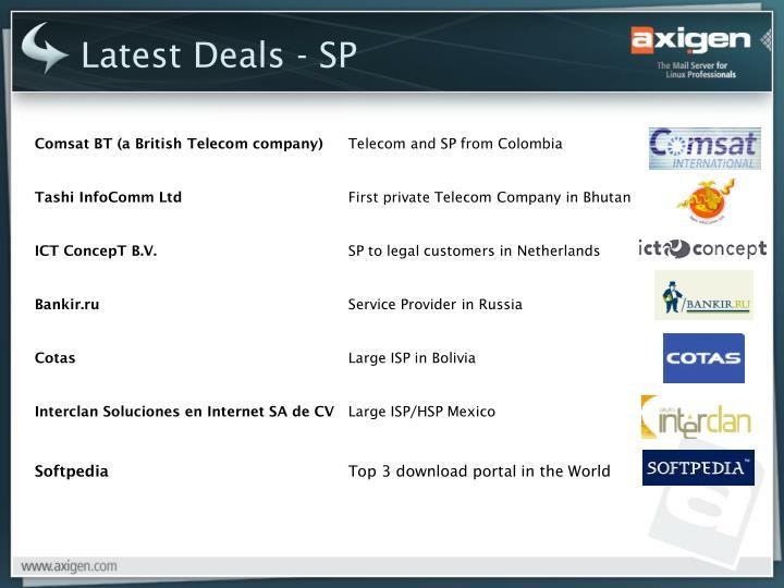 Latest Deals - SP