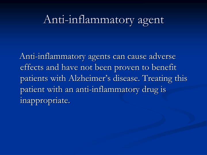 Anti-inflammatory agent