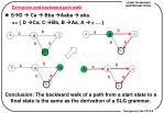 derivation and backward path walk