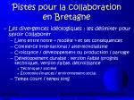 pistes pour la collaboration en bretagne