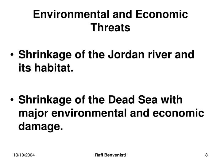 Environmental and Economic Threats