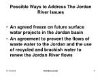 possible ways to address the jordan river issues