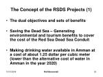 the concept of the rsds projects 1