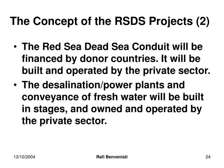 The Concept of the RSDS Projects (2)