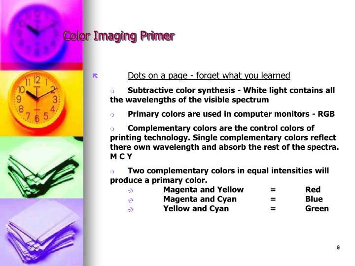 Color Imaging Primer