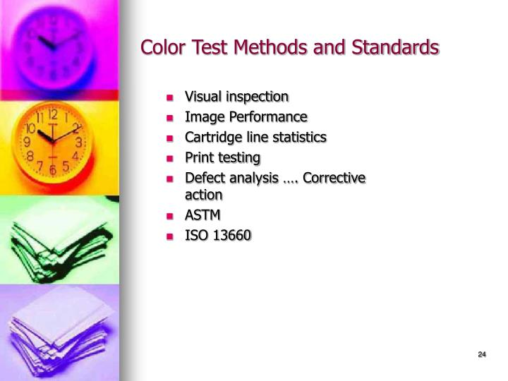 Color Test Methods and Standards